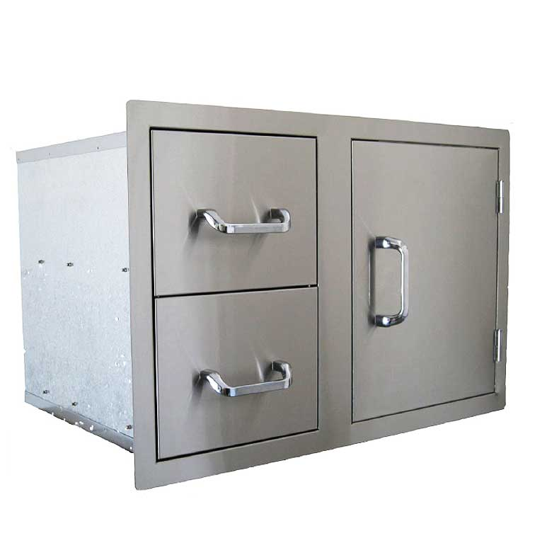 24230 - Dual Drawer and Single Door Combo